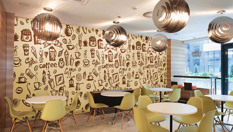 Murals are most commonly thought to be for Cafe wall mural